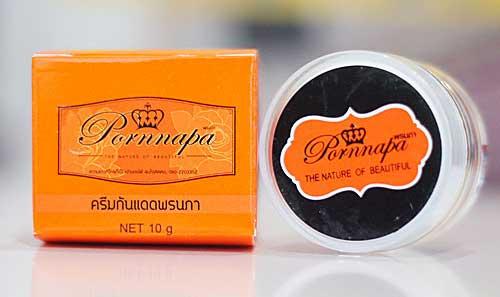 ครีมกันแดดพรนภา SPF60 กล่องส้ม ของแท้ดีไหม มาดูรีวิวกัน ราคาเท่าไหร่