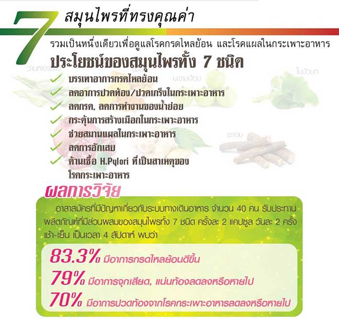 กิฟฟารีน แกสตรา-เฮิร์บ (Gastra-Herb) อาหารเสริมสำหรับ โรคกระเพาะ กรดไหลย้อน