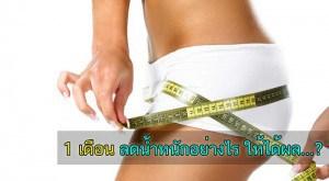 ลดน้ำหนักง่ายๆ ใน 1 เดือน