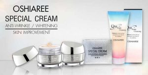 Oshiaree Special Cream + โฟมล้างหน้า Oshiaree Q10 Foam Cleansing