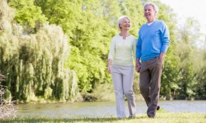 Elderly-Couple-Walk-Lake-Park-End-Of-Life-Plan-Spry