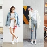 White sneakers fashion