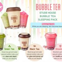 Etude House Bubble Tea Sleeping Pack มาส์กชานมไข่มุก