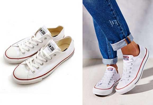 แฟชั่นรองเท้าผ้าใบสีขาวผู้หญิง